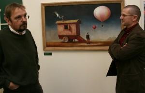 Im Museum  Schuchard und Holger Nowak
