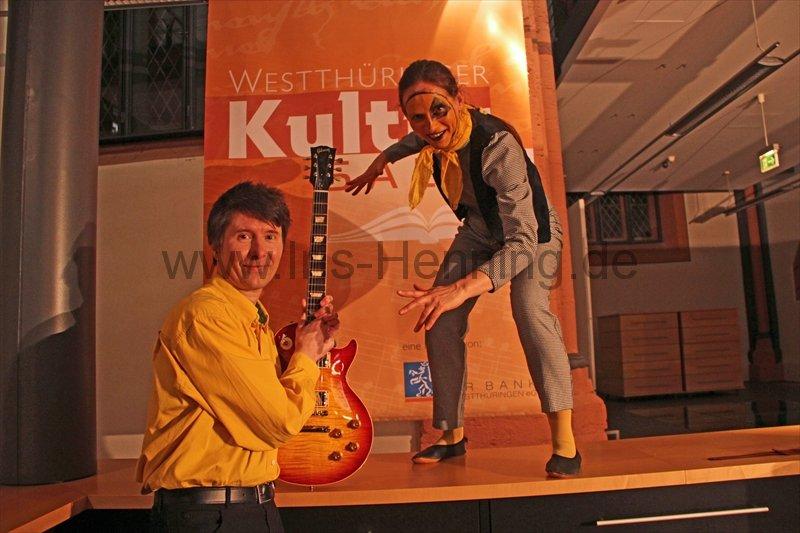 05/02/2014 Mühlhausen: KIECK Theater Weimar mit Thomas Kieck und Cornelia Thiele  (Foto: Iris Henning)